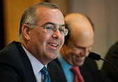 One of those guys who just soaks you in. New York Times columnist David Brooks addressed the Milken Institute Associates, offering an analysis of whether Washington has the political will to fix some of the nation's biggest challenges, from entitlements to energy policy.