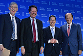 Mike was joined by Francis Collins, director of the National Institutes of Health, Robert Califf, Food and Drug Administration commissioner and Tom Frieden, director of the Centers for Disease Control, at the first Milken Institute Public Health Summit in Washington.