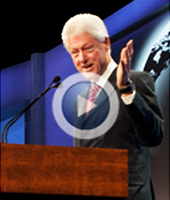 In this excerpt from his 30-minute talk at the 2012 Milken Institute Global Conference, Bill Clinton said the conference is a place where leaders with differing points of view can share ideas and seek solutions.