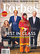 """A Forbes cover story listed Mike among """"The Visionaries Reimagining Our Children's Future."""""""