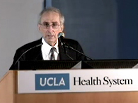Click to view UCLA Med Chief Hails Mike's Efforts to Fight Cancer