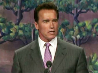 Click to view Schwarzenegger Comments on Mike's Philanthropy